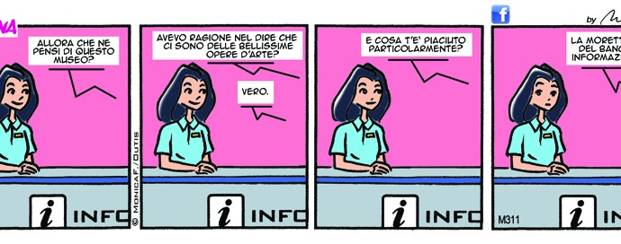 Xtina comic-strip inedita di Monica.