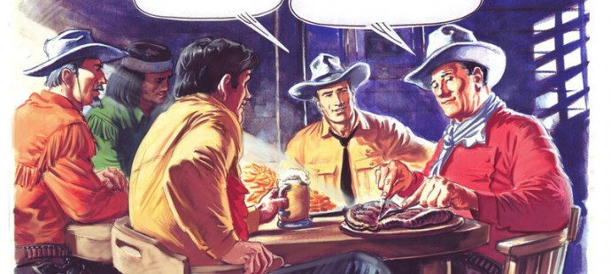 Tex Willer meets John Wayne