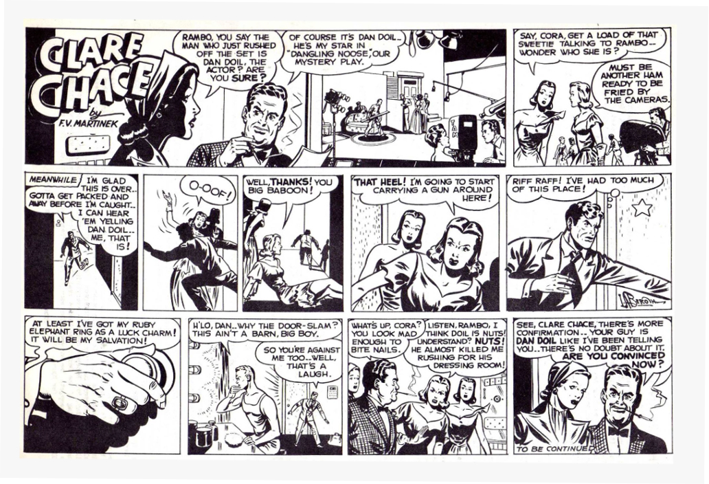 Unpublished strip Clare Chase