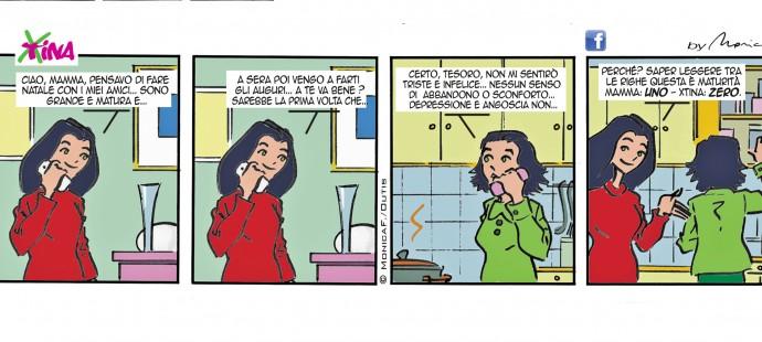 Xtina Xmas comic strip