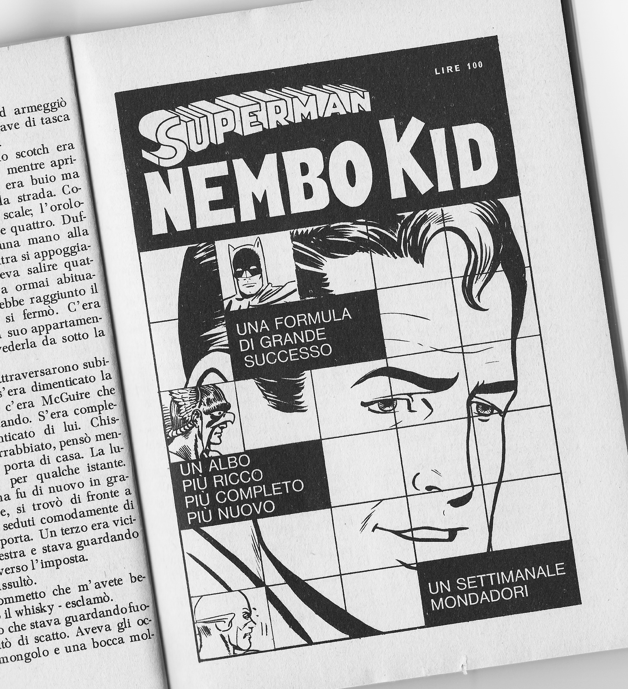 Nembo Kid Superman Vintage Adv