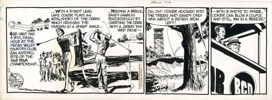 Mel Keefer Golf Comic strips