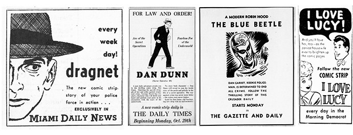 Vintage Comic Strips Ads