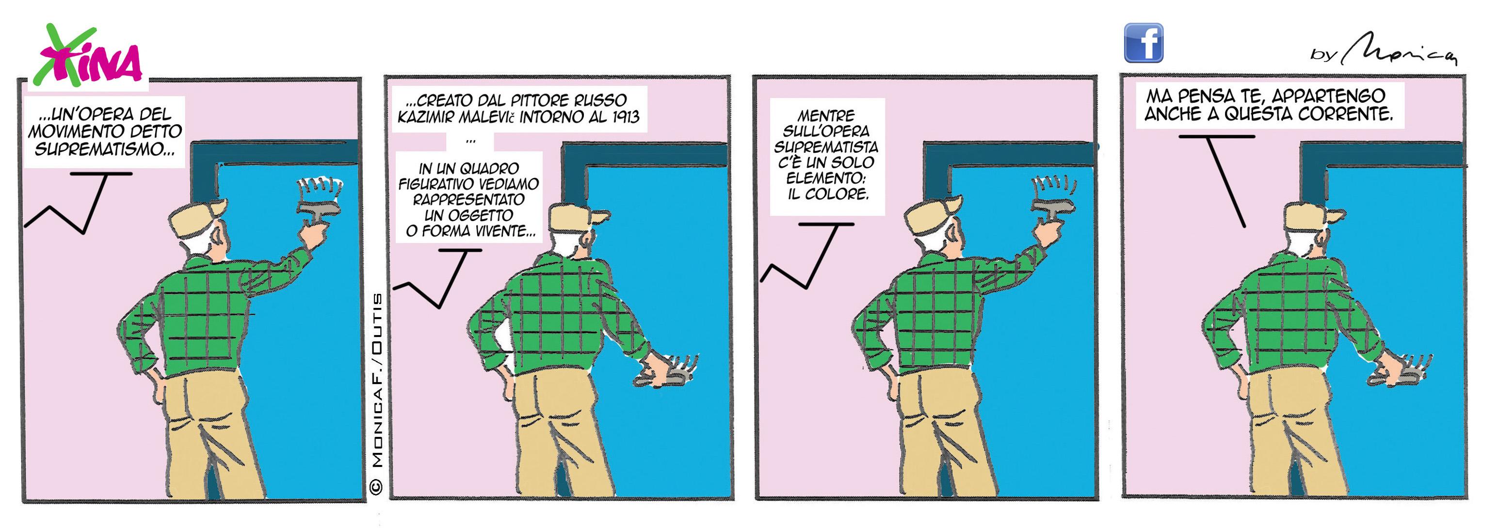 Xtina Comic Strip Art