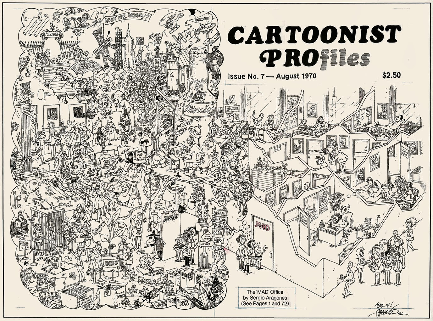 Sergio Aragones Mad office