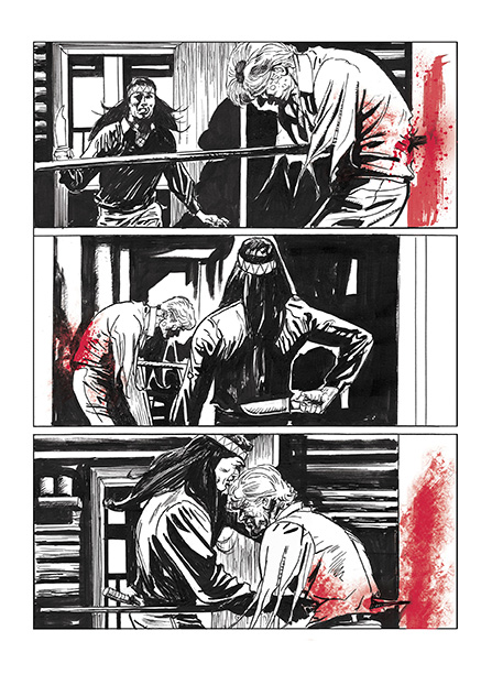 Lupo Western-Horror graphic novel page 6