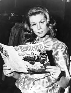 Elizabeth (Bewitched) Montgomery reads his own comic book