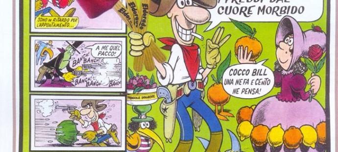 Jacovitti Cocco Bill Vintage Ad gelati Eldorado