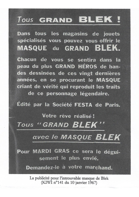 Le mystère du masque de Blek