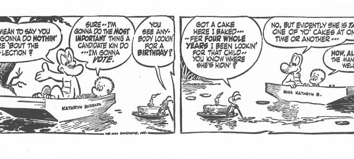 Walt Kelly, the saddest Pogo comic strips
