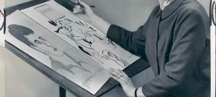 Mary Kincaid housewife cartoonist in Michigan