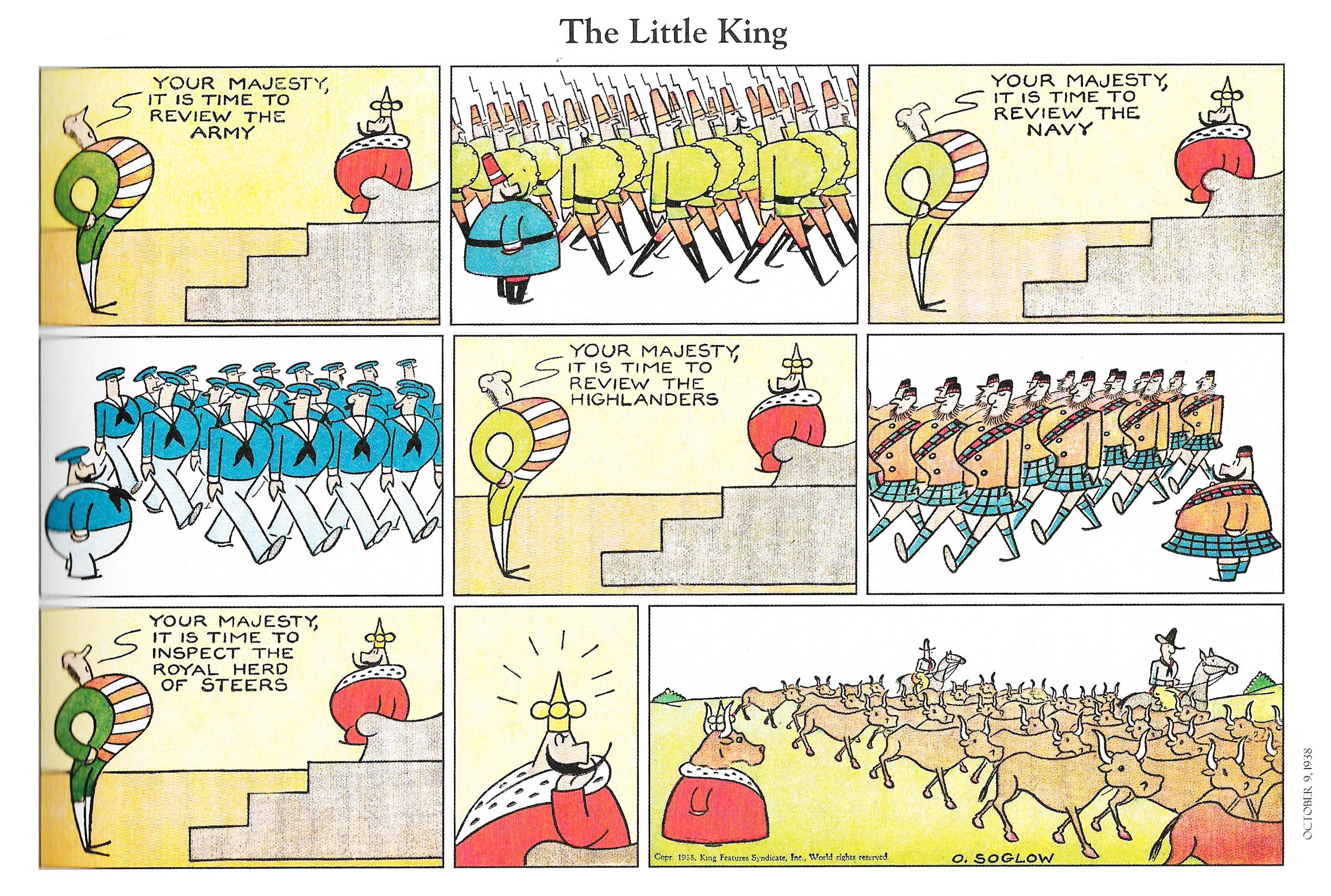 Little King 1938 e l'Italia oggi.