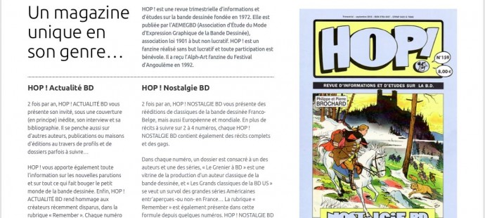 Hop! La memoire de la BD new site