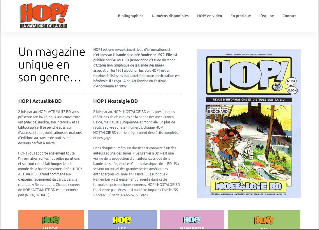 Hop! La memoire de la BD new site