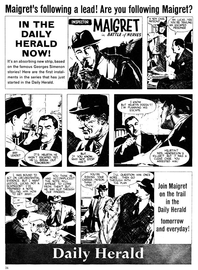 Maigret in Comics Daily Herald
