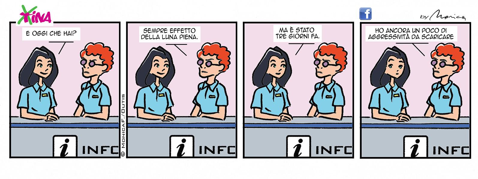 Xtina Comic Strip Full Moon