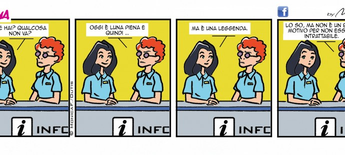 Xtina comic strip Luna piena