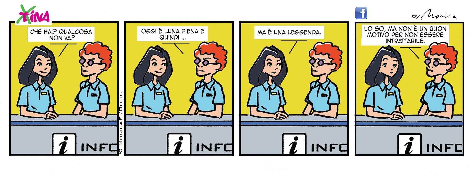 Xtina comic strip Luna piena
