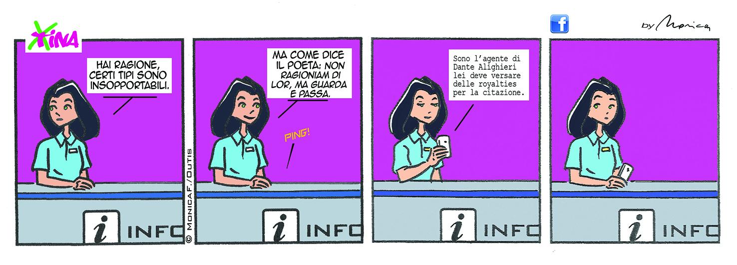 Xtina Comic Strip Dante Alighieri