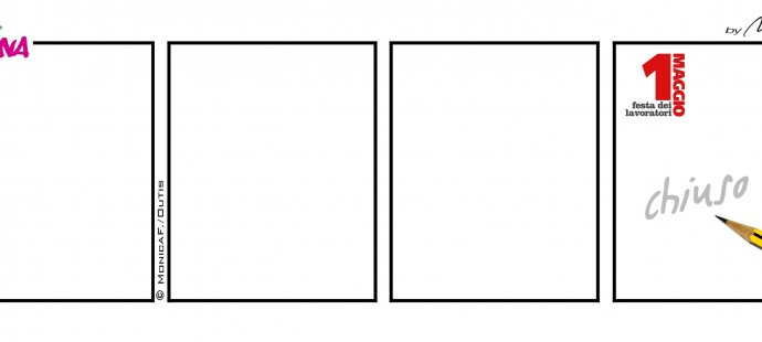 Xtina comic strip Primo Maggio