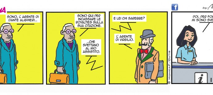 Xtina Comic Strip Dante e Virgilio