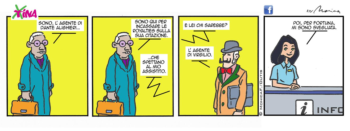 Xtina Comic Strip Dante e Virgilio