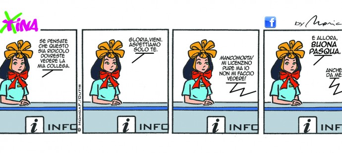 Xtina comic strip Buona Pasqua