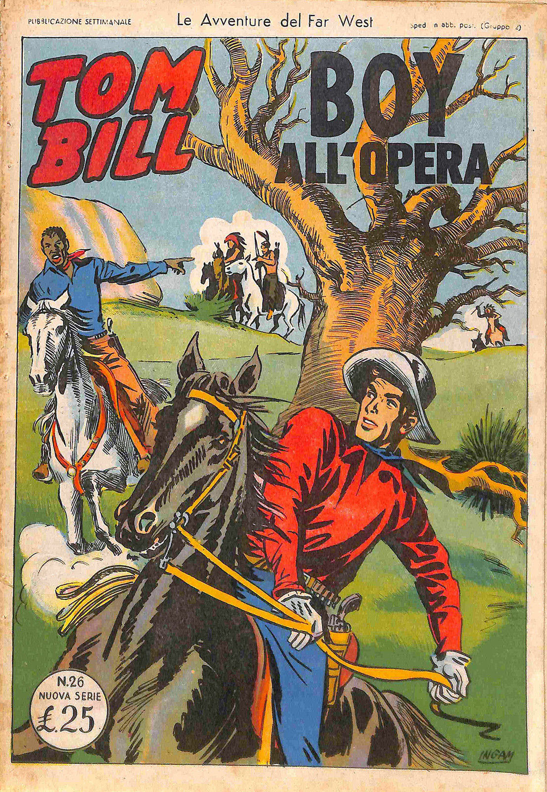 Fumetto italiano vintage Tom Bill