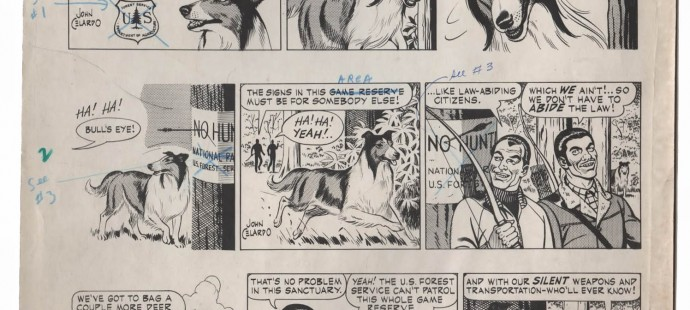 Lassie comic strip by John Celardo