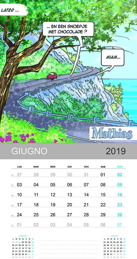 Anna e Mathias calendario Giugno 2019