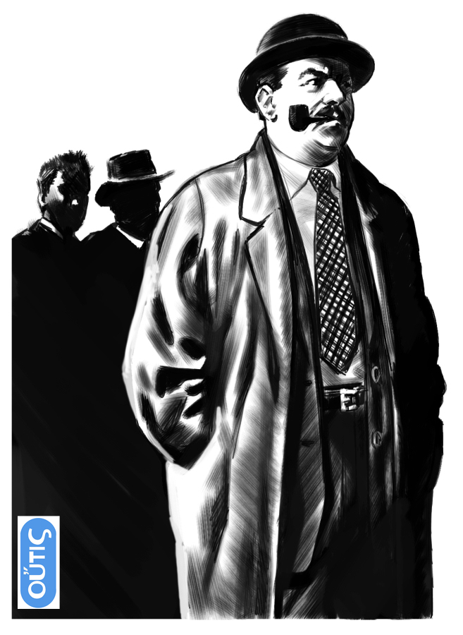 Looking for a style for Maigret illustrations