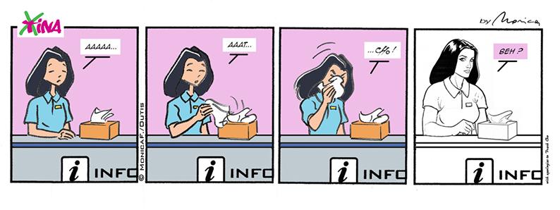 Xtina comic strip tribute to…