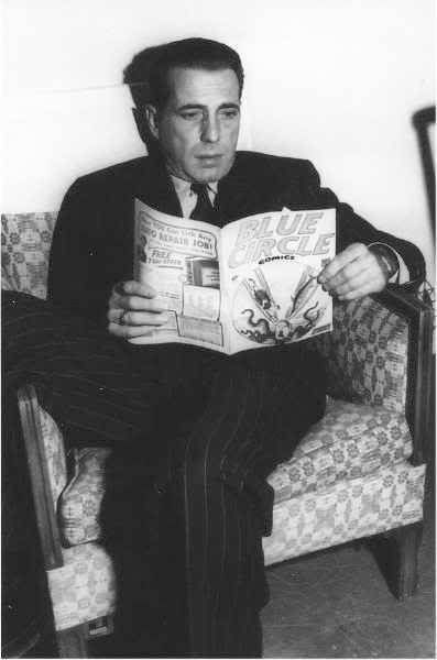 Humphrey Bogart reads Blue Circle vs adolf