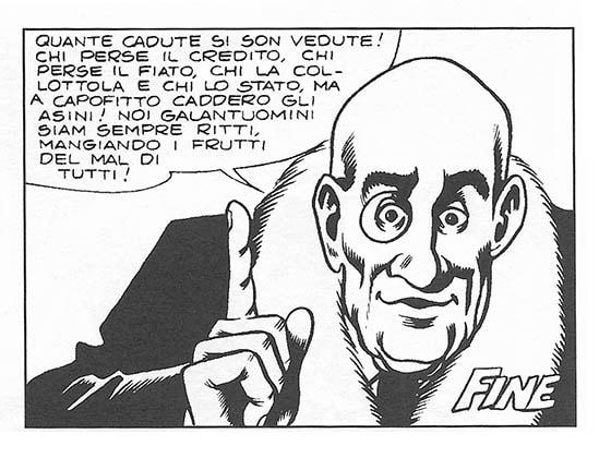 Il brindisi di Girella nel fumetto