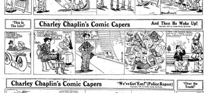 The first comic strip inspired by a celebrity