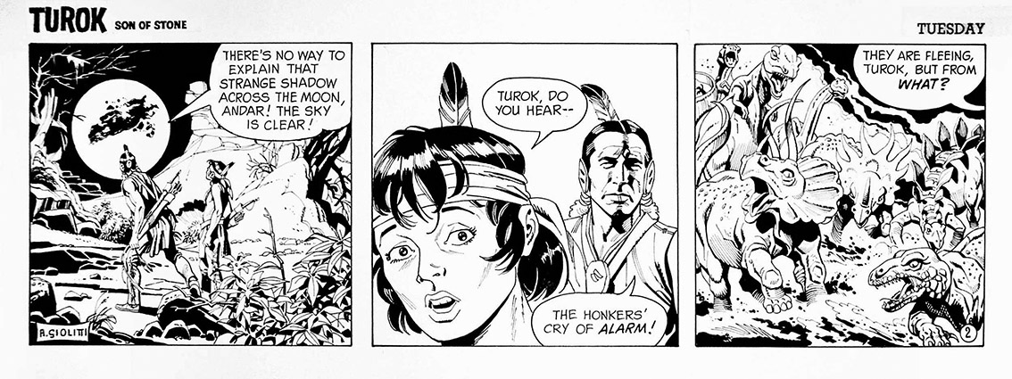 The mysterious comic strips of Turok son of the stone