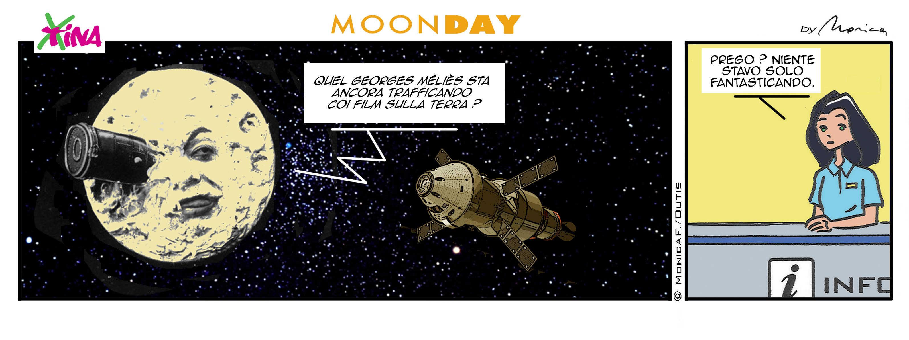 Xtina MoonDay comic strip