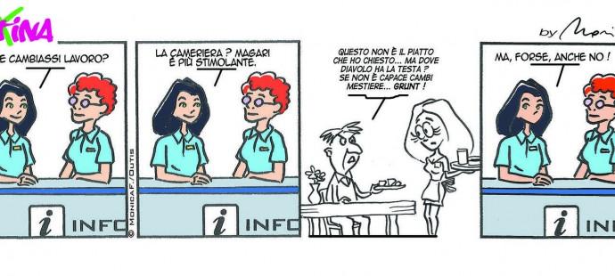 Xtina comic strip new job ?