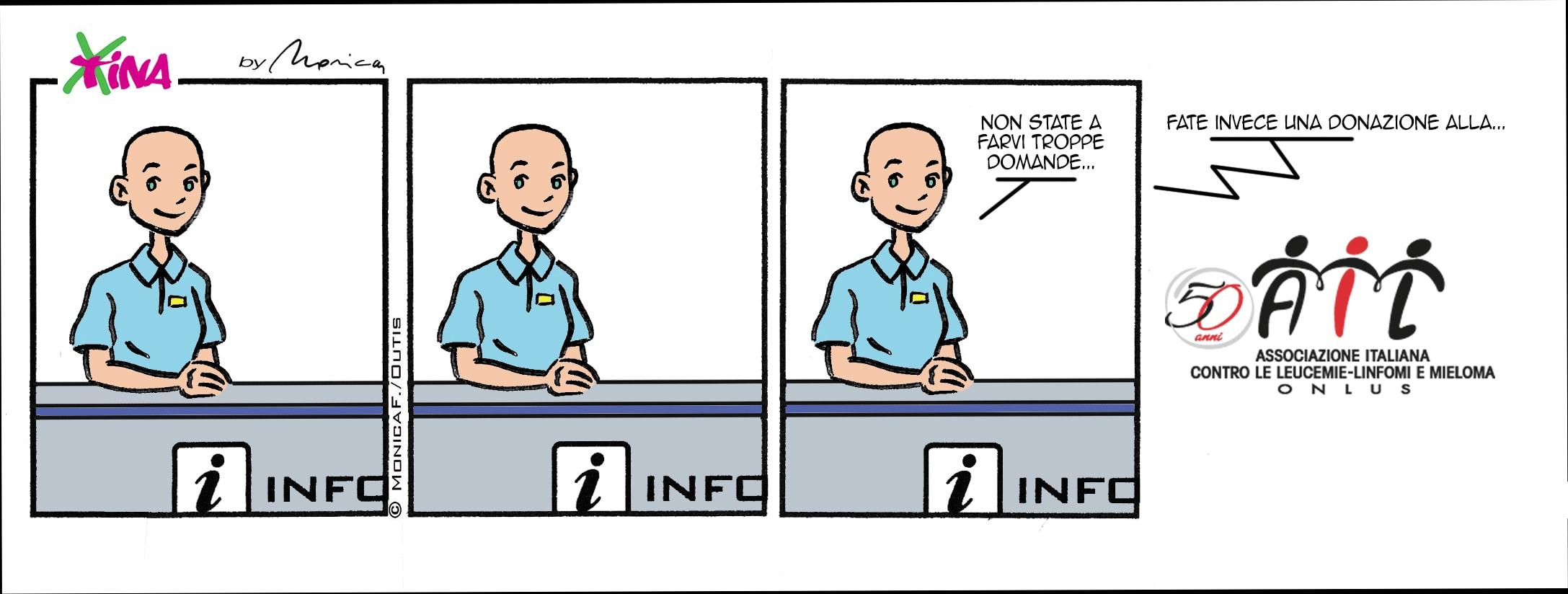 Xtina, comic strip not funny