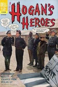 Col. Hogan reads Hogans Heroes comic book