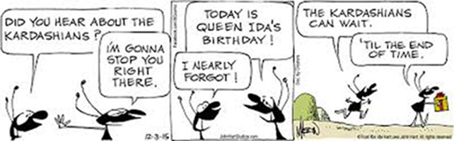 Queen Ida the B.C,'s comic strips by Johnny Hart