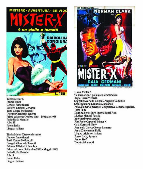 Italian Comics 2 Movie Mister X