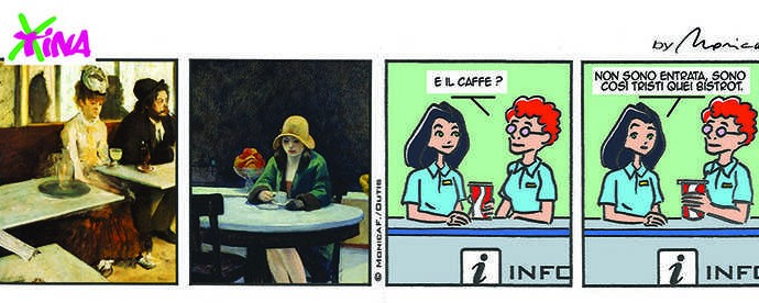 xtina comic strip bistrot