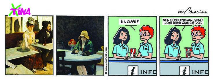 xtina comic strip bistrot