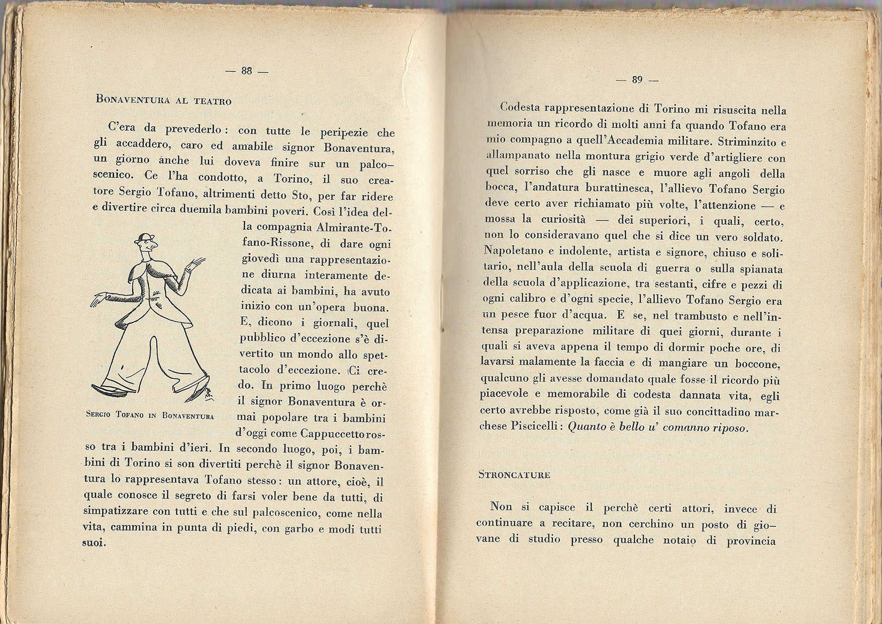 Bonaventura goes to theater 1928