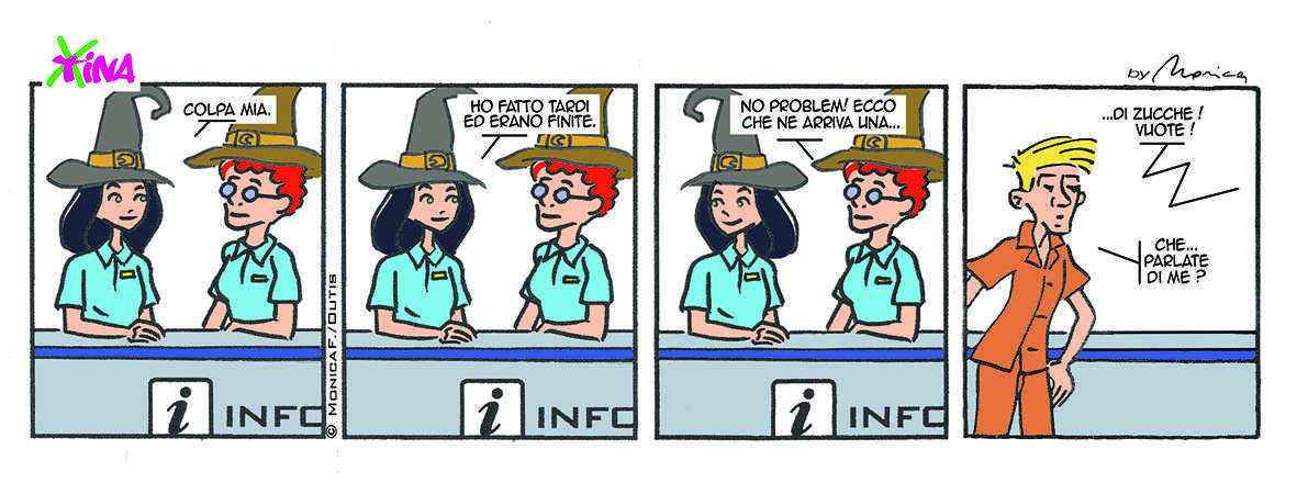Xtina Comic Strip Halloween