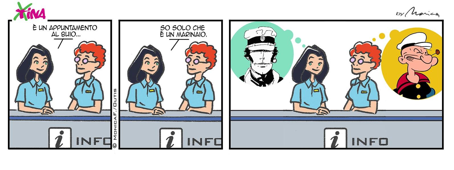 Xtina comic strip marinai