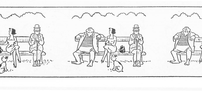 Comic strip Mam'zelle Souris goes to movie