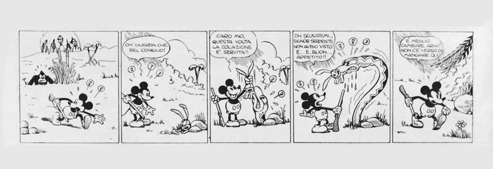 Mickey Mouse and The mysterious double strip
