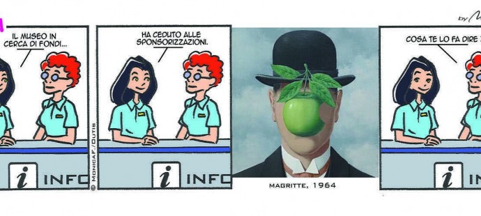Xtina Comic Strip Magritte